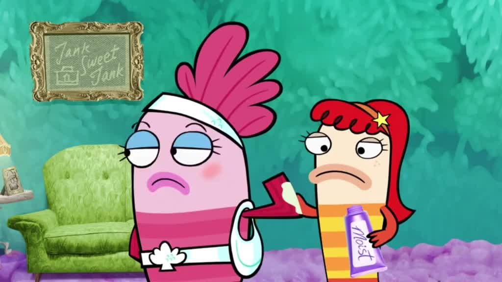 Watch fish hooks season 1 episode 2 fish sleepover party for Fish hooks disney